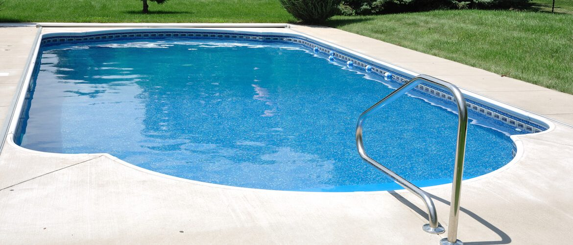 pool with vinyl siding